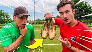 GOLDENE VS NORMALE FUßBALL SCHUHE CHALLENGE!!!