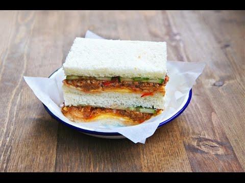 Malaysian Style Sardine Sandwich