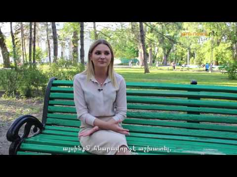 Alisa Plakhova is a TV journalist in Moldova, interview, May 2017 (Armenian subtitles)