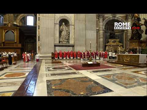 Pope Francis attends the funeral of Cardinal Sardi
