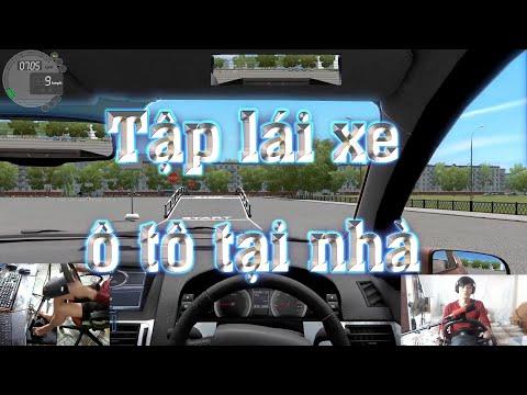 Tập lái xe ô tô với vô lăng victor và game giả lập lái xe city car driving