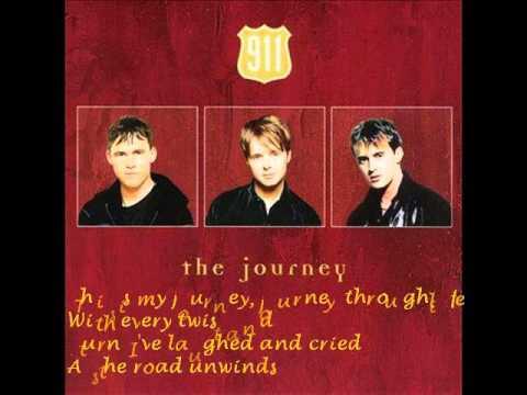 911 The Journey #Lyrics on screen