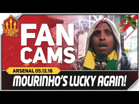 MOURINHO Lucky AGAIN! Manchester United 2-2 Arsenal Fancam