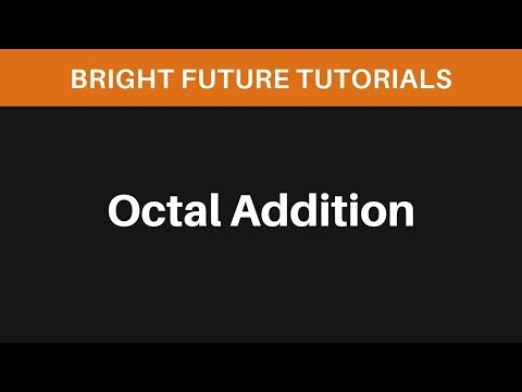 Addition In Octal
