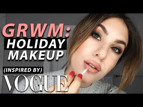 HOLIDAY MAKEUP: GRWM VOGUE INSPIRED! | Jamie Paige