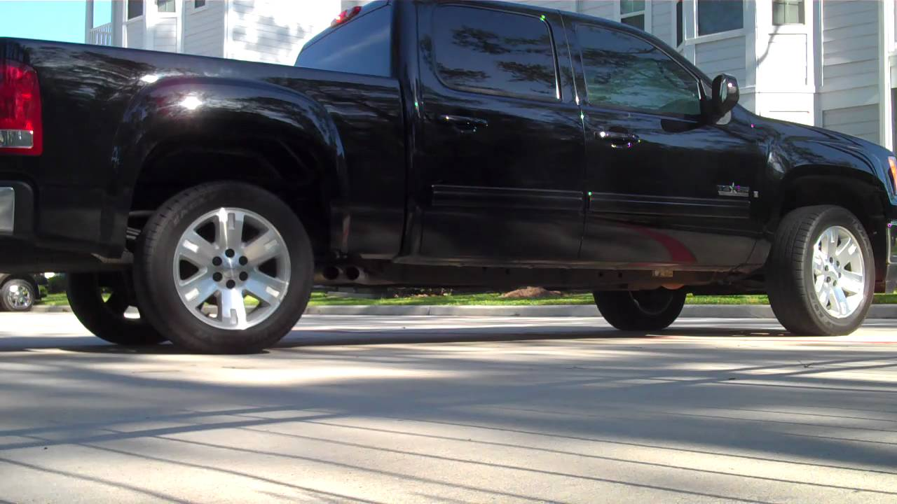 2008 GMC Sierra Texas Edition Flowmaster Exhaust - YouTube