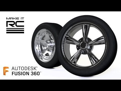 1/24 RC Wheels Speed Modeling In Fusion 360: American Racing Torq Thrust M And AR23
