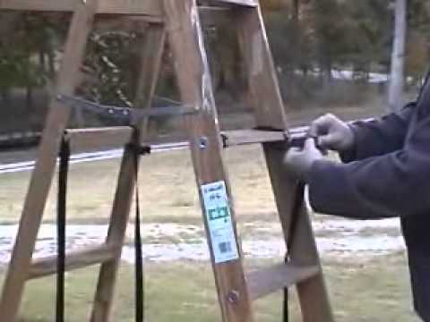 stabilizer system install on a frame wooden ladder - Wooden A Frame Ladder