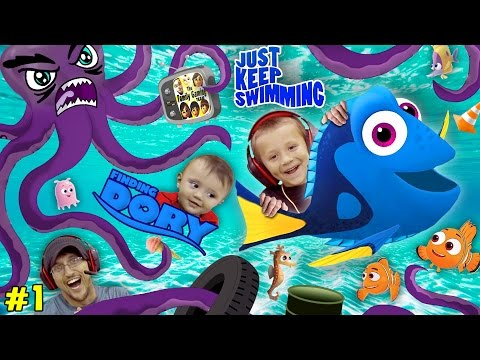 Thumbnail: WE SPEAK WHALE! Octopus Chase w/ SHAWN!!! Just Keep Swimming #1 FGTEEV plays FINDING DORY App Game