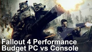 Fallout 4 PS4 Xbox One vs Budget PC Core i3 4130 GTX 750 Ti Frame-Rate Test