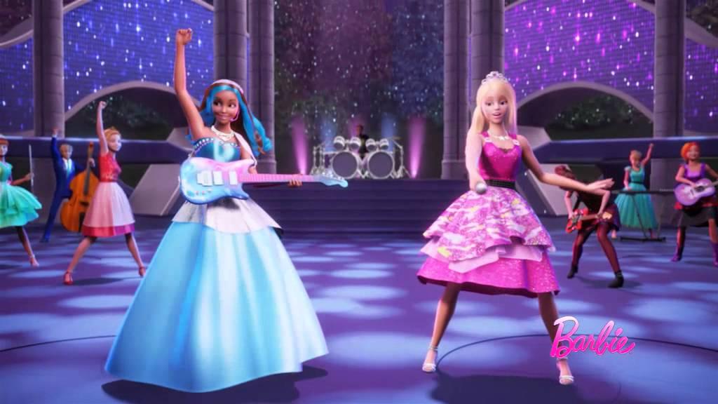 Barbie в рокендрол принцеса: български трейлър