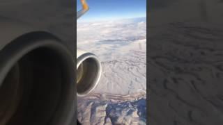 Uçakla Konya tarafında müthiş manzara