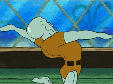 Squidward chokes on fork for 10 minutes