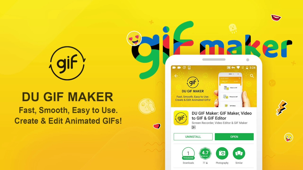 DU GIF Maker: The Best Gif Maker & Video to GIF & GIF Editor App  App  Review!