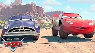 Lightning McQueen and Doc Hudson Make a Bet | Pixar Cars