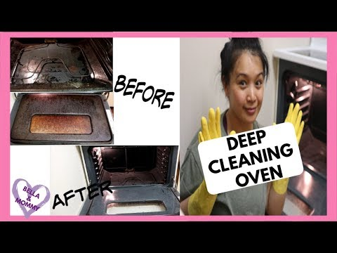 HOW TO CLEAN THE INSIDE OF YOUR OVEN || DEEP CLEANING OVEN || CLEANING MOTIVATION