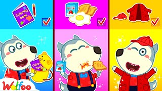 Mommy!!! Getting Ready for School with Wolfoo - Kids Stories About Baby Wolfoo | Wolfoo Channel