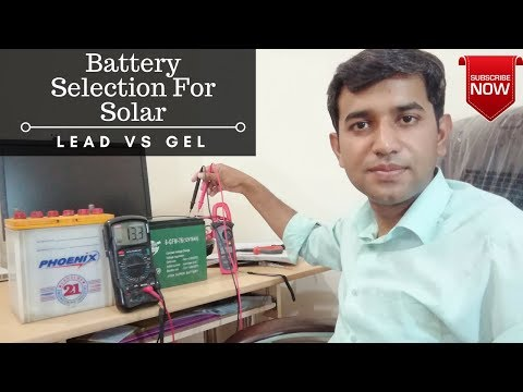 Battery Selection For Solar System.