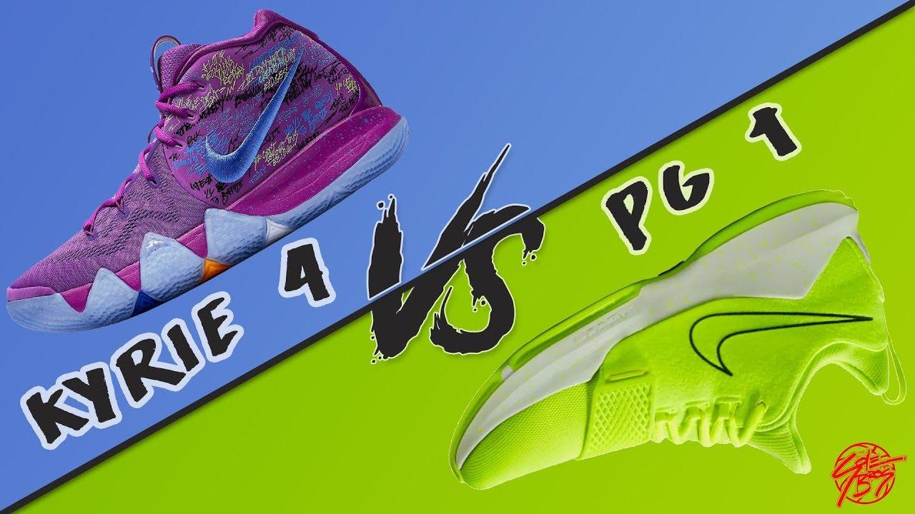 234b0a30ec23 Nike Kyrie 4 vs PG 1! - YouTube
