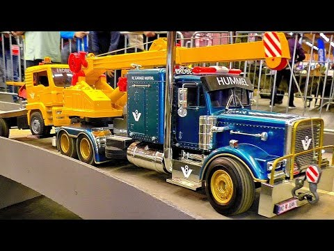 GREAT RC SCALE MODEL TRUCK COLLECTION WONDERFUL DETAILED MODEL MACHINES IN MOTION