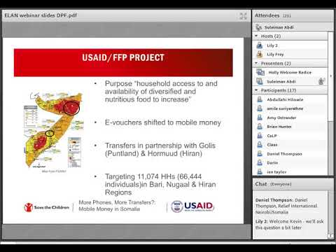 ELAN Webinar: Save the Children's Mobile Money Experiences in Somalia