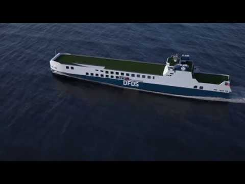 DFDS' new mega Ro-Ro's in action