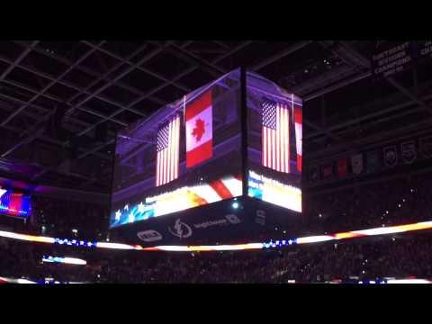 National anthem game 7 Tampa Bay Lightning versus the Detroit Red Wings April 29, 2015