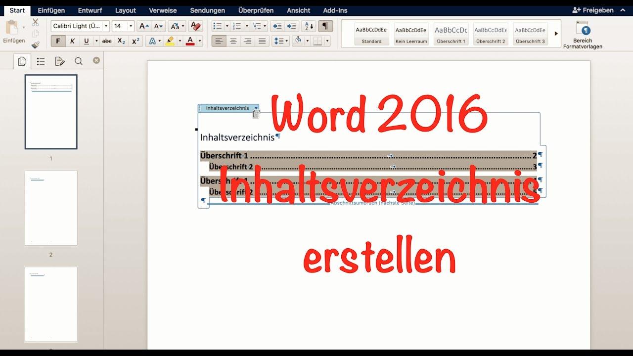 Automatisches inhaltsverzeichnis word mac diplomarbeit schreiben word