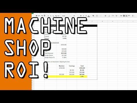 Calculating ROI In The Machine Shop!  CB55