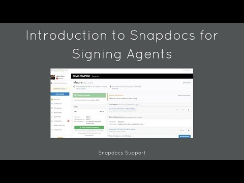 Introduction to Snapdocs for Signing Agents