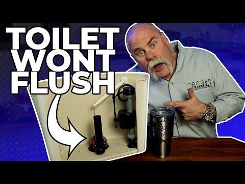 Toilet Won't Flush Water Stays in Bowl | DIY Plumbing Repair