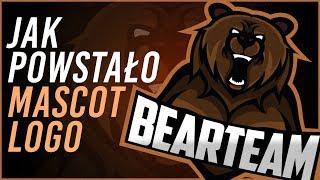 Jak powstało Mascot Logo BearTeam | Szkic do pobrania | SpeedArt