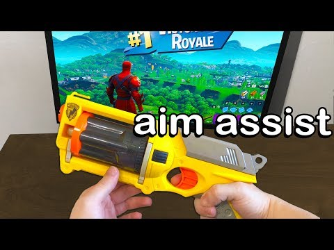 I Played Fortnite on a GUN Controller and WON (aim assist)