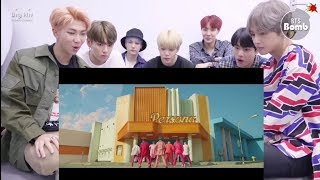 BTS reaction to Boy With Luv BTS mv
