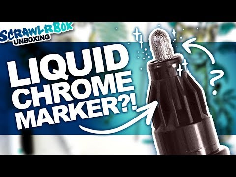 and Trying to Draw Tigers!   Mystery Art Box   Scrawlrbox Unboxing   Molotow Liquid Chrome Marker thumbnail