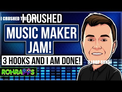I CRUSHED MUSIC MAKER JAM! 3 Hooks and I am Done!🔨