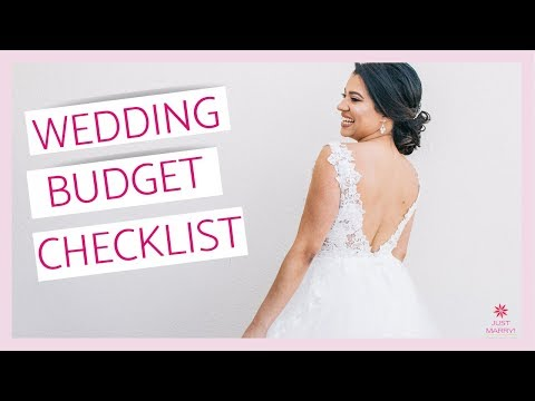 How To Use A Wedding Budget Checklist Youtube
