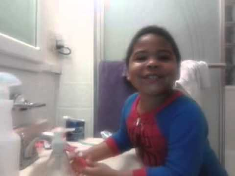 Big Boy brushing his teeth