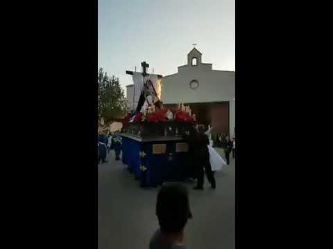 Fuego en el paso de la Virgen de los Dolores de Bolaños de Calatrava