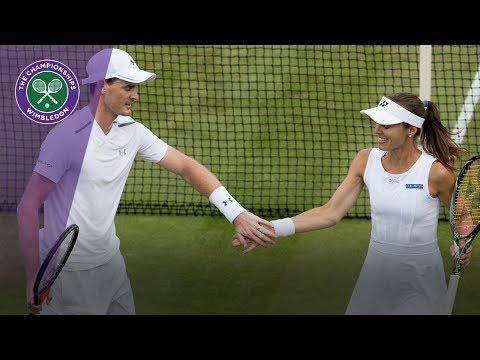Wimbledon 2017 - Martina Hingis and Jamie Murray win first mixed match
