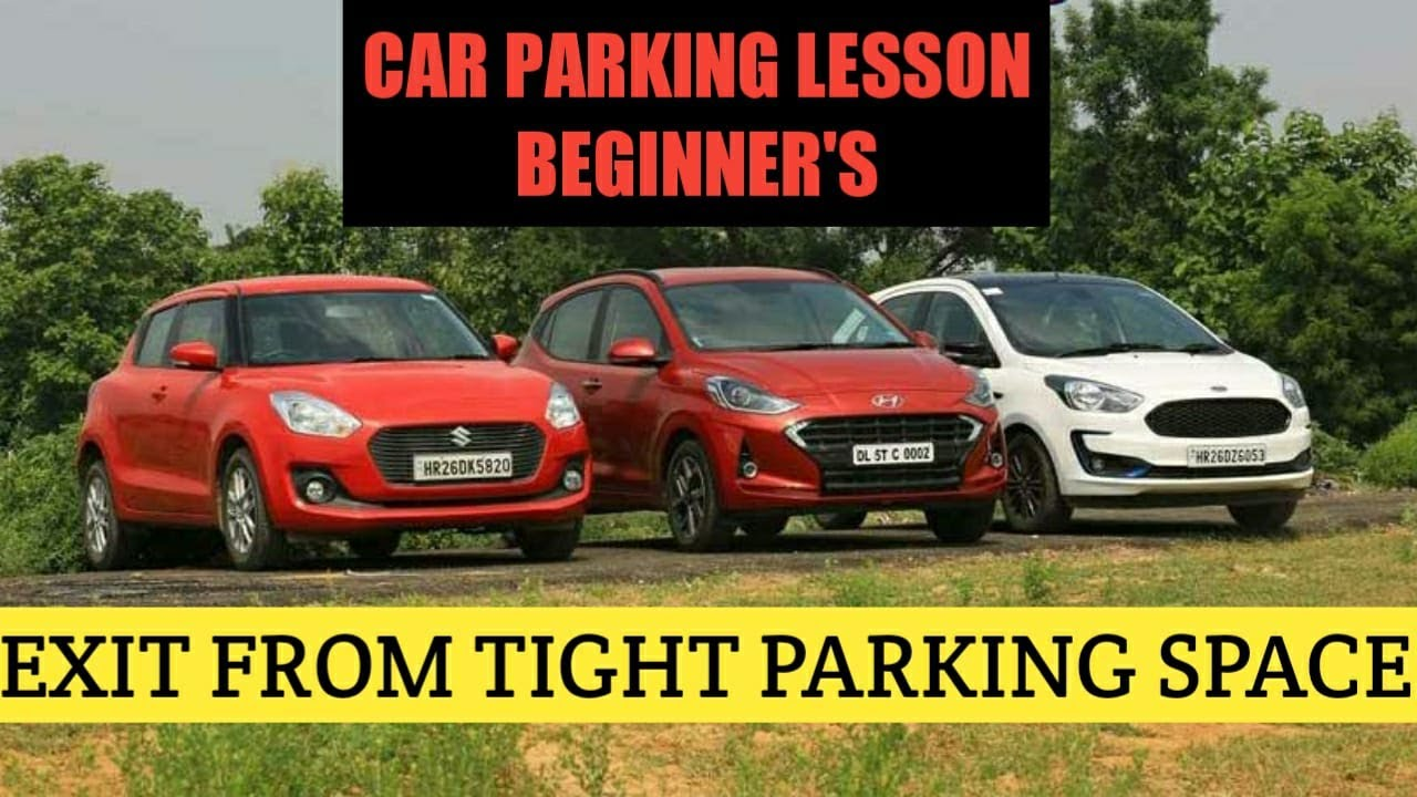 How To Take Out The Car  From A Tight Parking Space - Automatic Car Driving Lesson - 8056256498