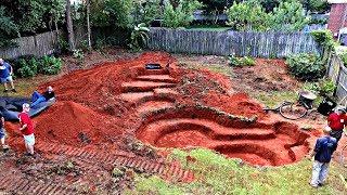 Het bouwen van een Achtertuin Bas Vijver!! (Dag 1)