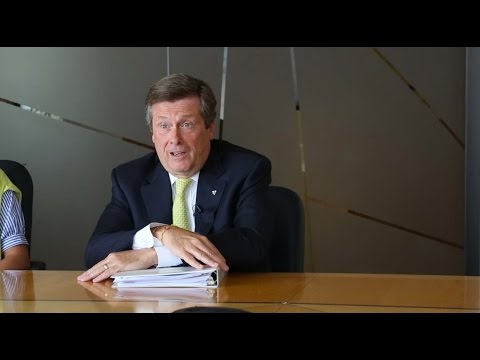 Toronto Mayor John Tory on planned relief line subway