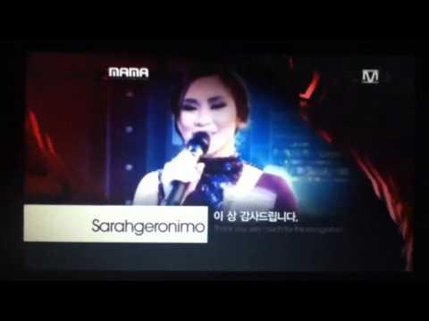 Sarah Geronimo Philippines 필리핀 Best Asian Artist at MAMA