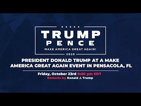 LIVE: President Donald Trump in Pensacola, FL #Florida
