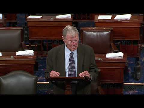 "Inhofe Speaks on Senate Floor about the WALL Act: ""it is a solution to the problem"""