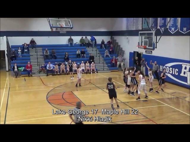 Game Highlights Girls' Varsity: Lake George 52 vs Maple Hill 60 (F)