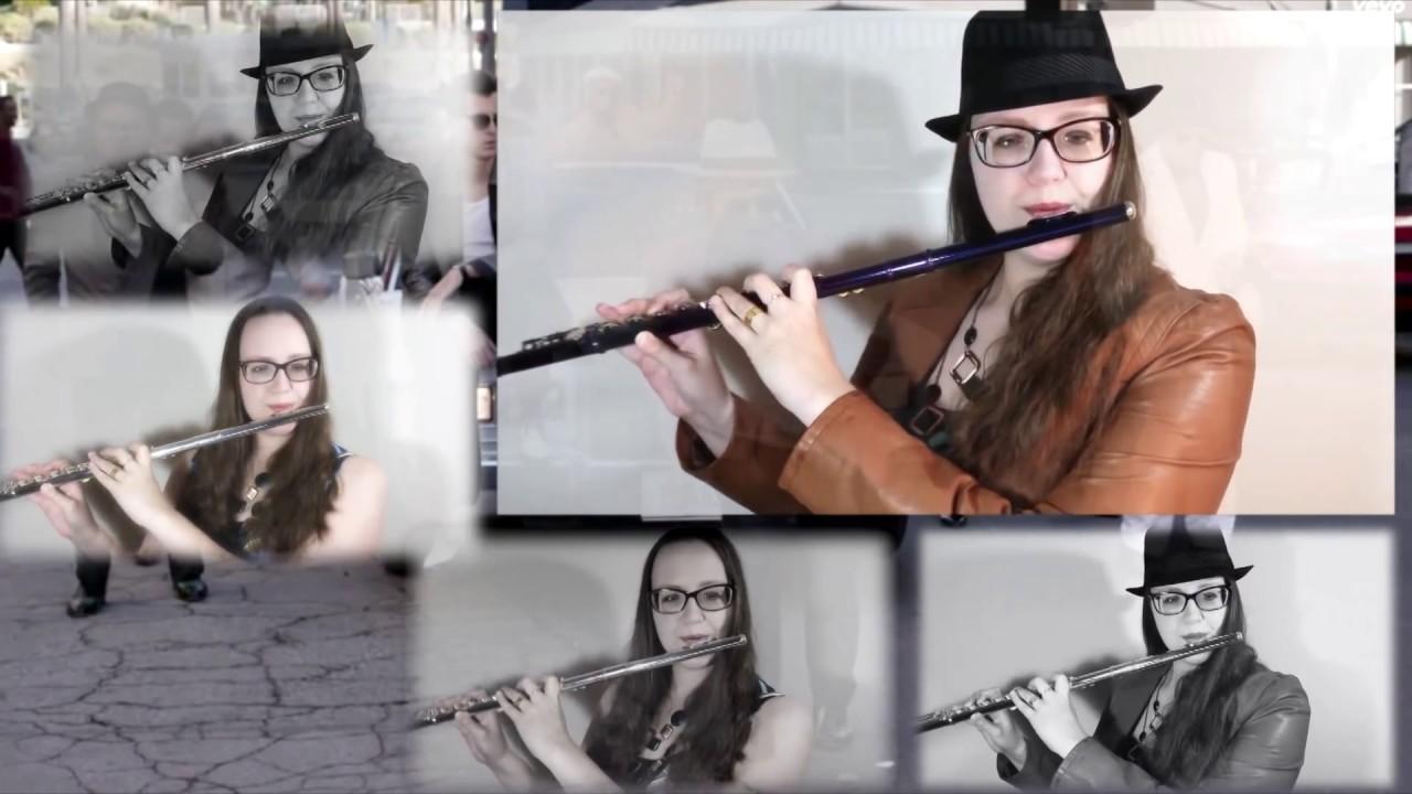Uptown funk bruno mars instrumental jazz flute quartet cover by flute