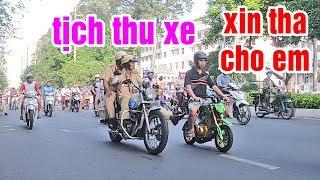 Chạy Ngang Chốt Giao Thông Bằng Cào Cào Mini Gắn Máy Suzuki Sport Xipo Và Cái Kết