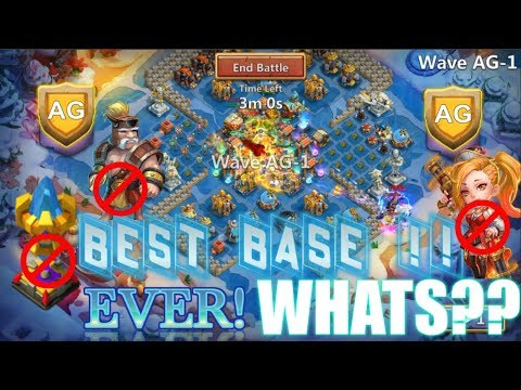 BEST BASE BEATING AG EVER! Without Gunslinger And Magic Towers - Castle Clash